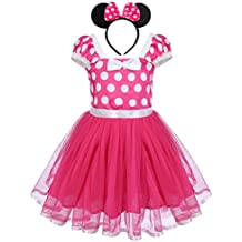 IBTOM CASTLE Toddlers Girls' Polka Dots Christmas Birthday Princess Leotard Party Cosplay Pageant Fancy Costume Tutu Dress up Cartoon Mouse Ears Headband