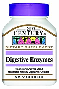 21st Century Digestive Enzymes Capsules, 60 Count (Pack of 2)