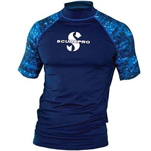 - Scubapro Aegean Rash Guard Mens Short Sleeve (UPF50) - Aegean - XL