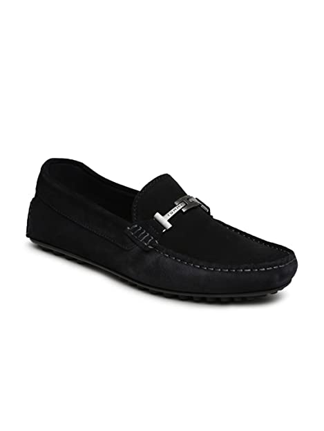 aaa058c81 Tommy Hilfiger Men Black Leather Loafers (11)  Buy Online at Low ...