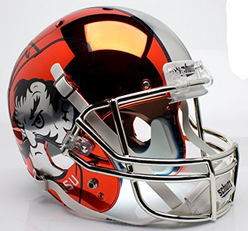 Oklahoma State Cowboys Alternate Orange Chrome Pistol Pete Schutt Full Size Replica Helmet