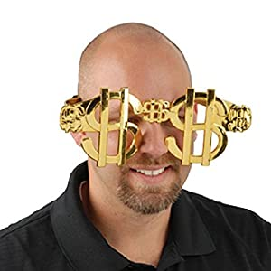 Amazon.com: One Set Of Adult Size Giant Gold Dollar Sign
