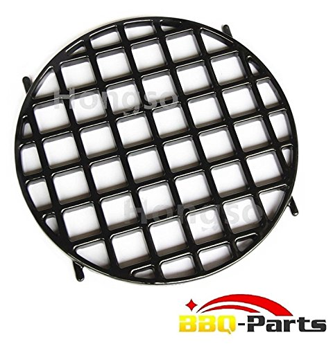 Hongso PCH834 Porcelain Coated Cast Iron Gourmet BBQ System Sear Grate Replacement for 22.5