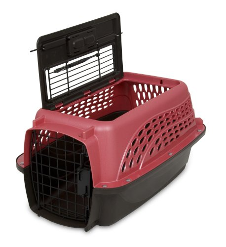 Petmate Two Door Top Load 19-Inch Pet Kennel, Pearl Honey Rose and Coffee Ground Bottom, My Pet Supplies