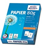 Avery Format Paper A4 80 g/m² 500 Sheets White printing paper - Printing Paper (White, 80 g/m², 500 sheets, 210 x 297 mm)
