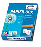 Avery Zweckform Ramette de 500 Feuilles A4 80g pour Photocopieurs et Imprimantes Laser et Jet d'Encre 2574