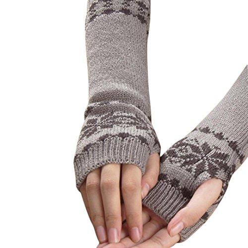 研究に向かって沿ってDDLBiz冬暖かいスノーフレーク手袋キーボードリーク指ニット手袋