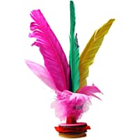 Honeytecs Colorful Chinese Jianzi Feather Kicking Shuttlecocks Foot Exercise Sports Game