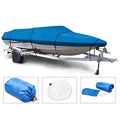 "Pinty V-Hull Fish Ski Boat Cover Waterproof fit 17"" 18"" 19"" Trailerable Boat"