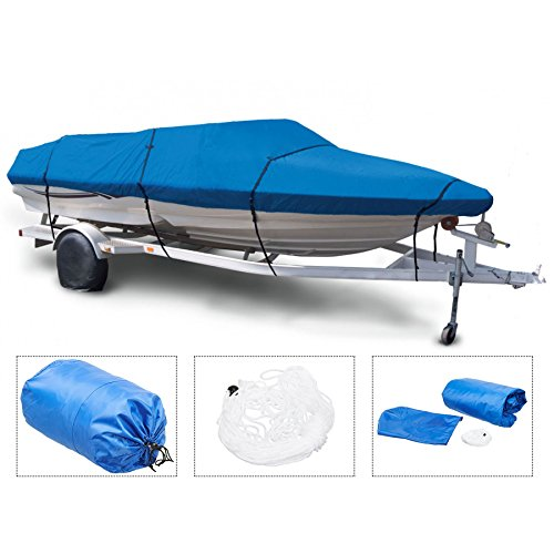 "Pinty V-Hull Fish Ski Boat Cover Waterproof fit 16"" 17"" Trailerable Boat"