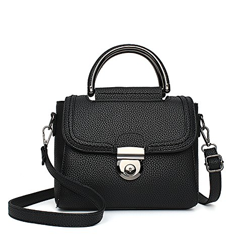 Meoaeo Die Neue Koreanische All-Match Handtasche Schulter Messenger Mini Sperren black