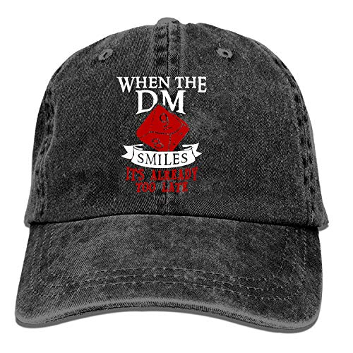 Baseball Trucker Cap,When The Dungeon Master Smiles Adjustable Youth Cowboy Mens Golf Caps Hats (Masters Trucker Hat)