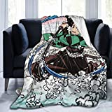 MACOIOR Demon Slayer Blanket Tanjirou Blanket Anime