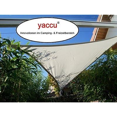 YACCU voile d'ombrage imperméable rectangulaire 4 x 3 m-gris lumière