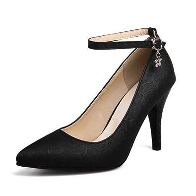 SJJH Stiletto Heels and Large Size 15 US Ankle Strap Women Pumps High Heel  Shoes 905b3ec5d