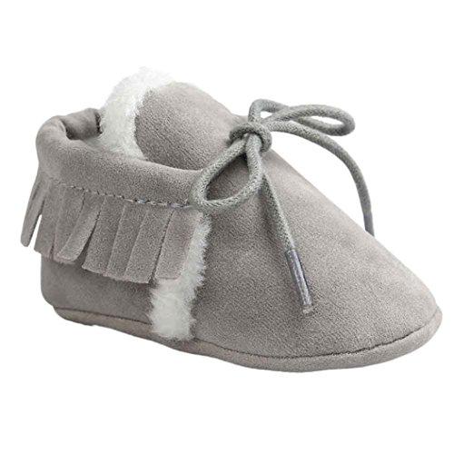 Mädchen jungen Grau warme weiche Winter Winterstiefel Jamicy® Sohle Mode Schuhe AqPnzEwxS5