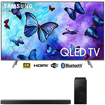"Samsung QN65Q6FNA 65"" Q6FN QLED Smart 4K UHD TV (2018) HW-N550/ZA 3.1 Channel Soundbar System Bundle"