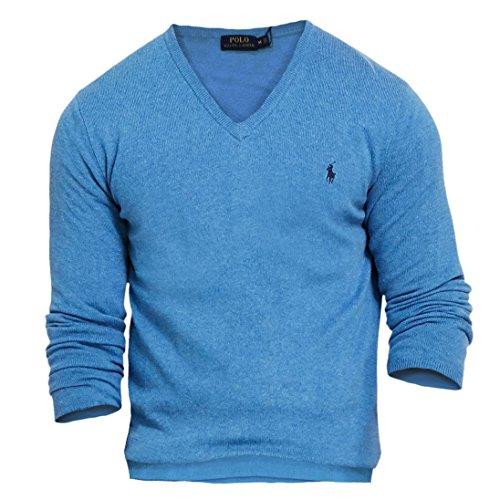 Polo Ralph Lauren Merino Wool V-Neck Sweater men's night blue (XXL) ()