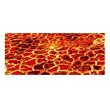 3D Visual Stair Treads Carpet Non Slip Modern Step Mats,Rubber Backing,For Home Decorations Set of 13, 9''X23.5'' Fire2