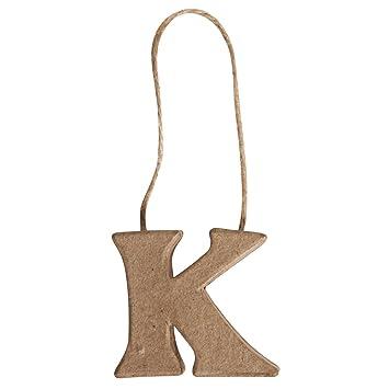 Rayher - 67085000 - papel maché de letra K reciclado FSC 100 ...