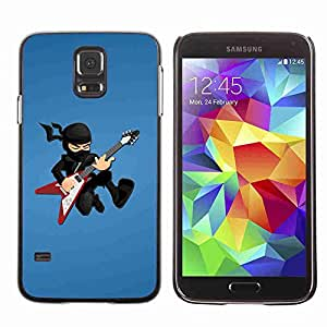 Planetar® ( Ninja Rock star ) Fundas Cover Cubre Hard Case Cover Samsung Galaxy S5 V SM-G900