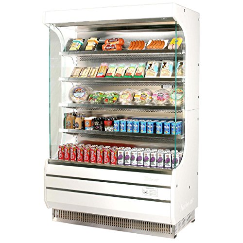 (Turbo Air TOM-40 Vertical Open Display Case Cooler Full)