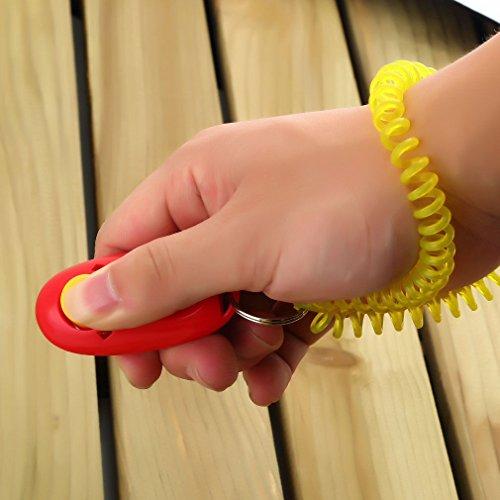 Attmu-7-Pack-Pet-Training-Clicker-with-Wrist-Strap-Dog-Training-Clicker-Set