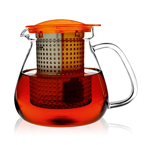 Finum Tea Control System Glass Brewing Pitcher, 35 oz, Amber (Pack of 6)