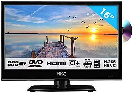 HKC 16M4C Televisor LED 16 Pulgadas con Reproductor de DVD (HD ...