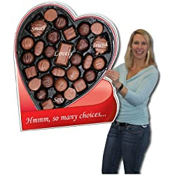 2' x 3' Box of Chocolates HUGE Valentine's Day Card w/Cardboard Envelope