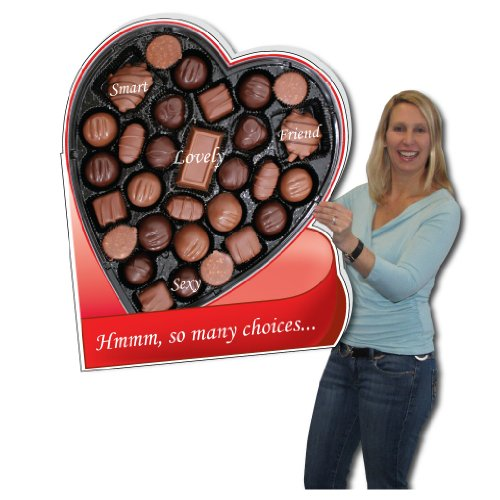 Amazon 2 x 3 Box of Chocolates HUGE Valentines Day Card w – Giant Valentines Card