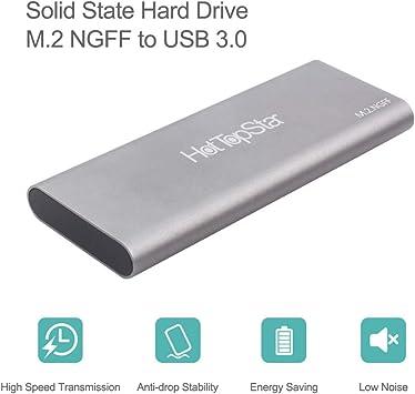 HotTopStar USB 3.0 M.2 NGFF Carcasa de Disco Duro para Llave B, SATA M.2