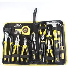 homeowner Juego de herramientas para Dowell 24piezas Kit de herramientas de mano pequeño con General de Hogares Caja de herramientas de plástico caso de almacenamiento