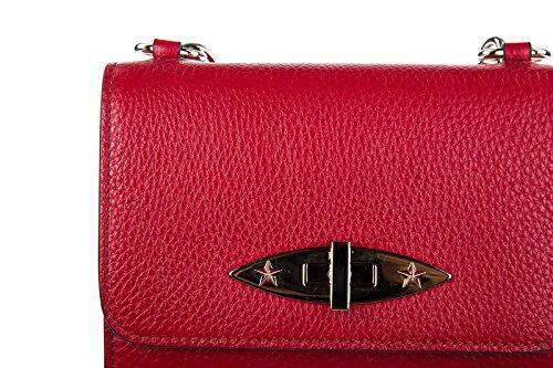 Red Valentino borsa donna a tracolla pelle borsello rosso