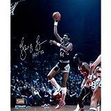 Steiner Sports Memorabilia NBA San Antonio Spurs George Gervin Signed Sky Hook Photo, Multi, 10-Inchx8-Inch