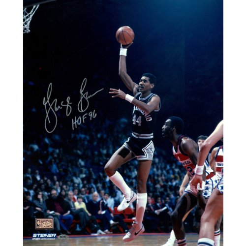 NBA San Antonio Spurs George Gervin Sky Hook 8x10 Photo with HOF 96 Inscription Inscription