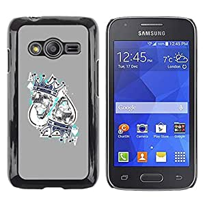 Shell-Star Arte & diseño plástico duro Fundas Cover Cubre Hard Case Cover para Samsung Galaxy Ace4 / Galaxy Ace 4 LTE / SM-G313F ( King Hearts Cards Poker Gambling )