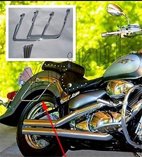 Chrome Motorcycle Saddlebags Luggage Navigator Bracket Steady Support Bars For Honda SHADOW SPIRIT VT 750 C2 screw 10 x1.25, length 6cm from 2007 19cm distance shaft version