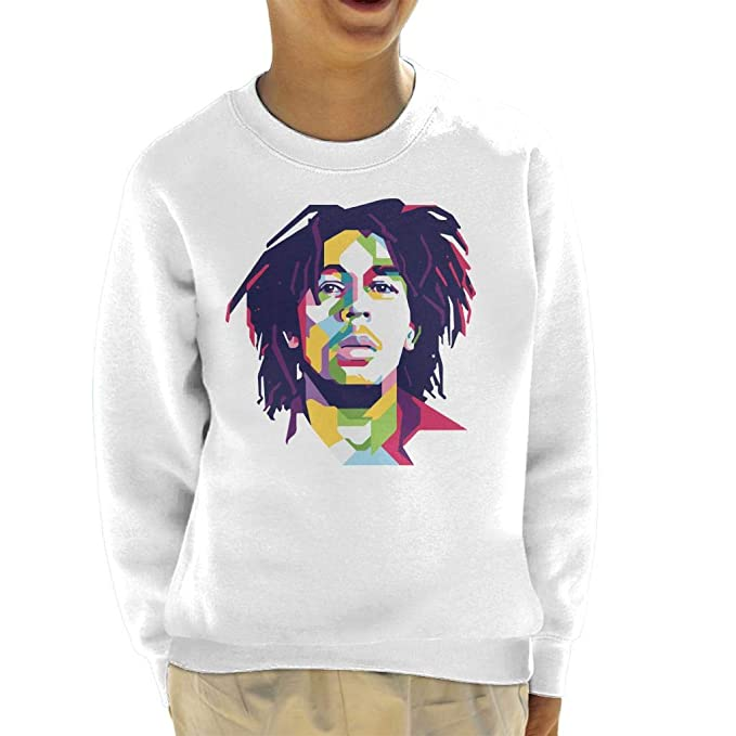 Geometric Celebrity Bob Marley Kids Sweatshirt: Amazon.es: Ropa y accesorios