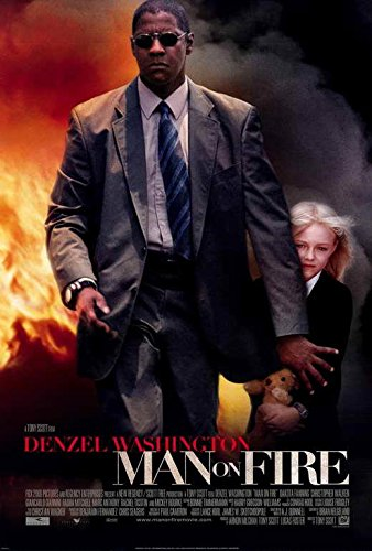 Man on Fire Movie POSTER 27 x 40, Denzel Washington, Dakota