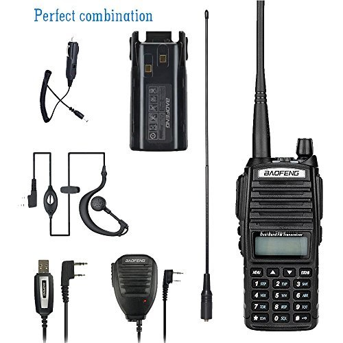 BaoFeng walkie talkie UV-82 8w High Power Dual Band Radio: 136-174mhz (VHF) 400-520mhz (UHF) Amateur (Ham radio) Portable Two-Way radio