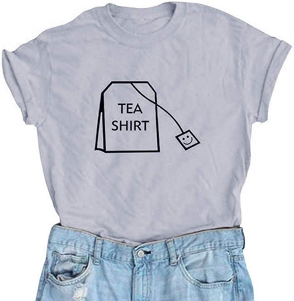 Skang Deman T-Shirt Gro/ße Gr/ö/ßen Casual Mode O-Neck Einfarbig Briefdruck Kurzarm Oberteil Tops S-XXXL