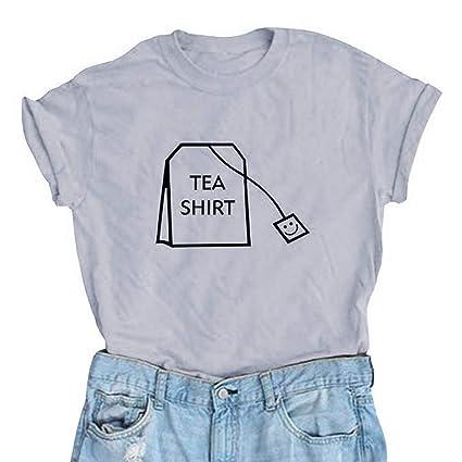6e25a102c succeedtop Spring Summer Women Girl Funny Short Sleeve Cotton Shirts Cute Junior  Graphic Tee Top Blouse