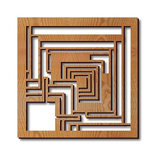 Frank Lloyd Wright Ennis Block Hardwood Trivet (Lloyd Frank Block Textile Wright)