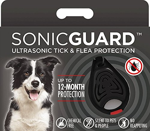 SonicGuard Tickless Pet Ultrasonic Tick & Flea Repeller for Pets, Black