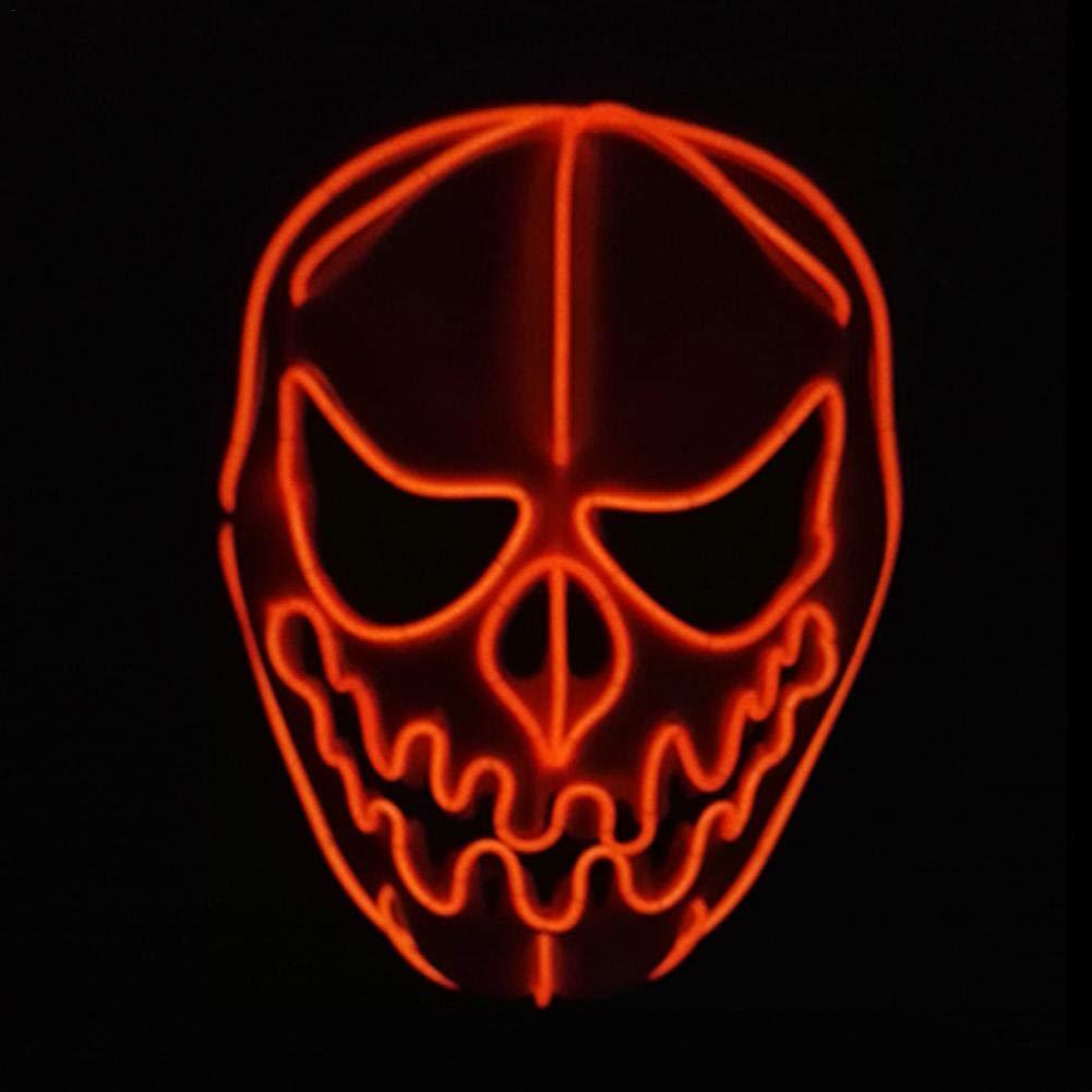 PROKTH Mascaras de Halloween Disfraz la Purga Mujer Mascaras de la Purga Terror Mascara led Hombre Decoración de Halloween Calabaza 1PC: Amazon.es: Hogar