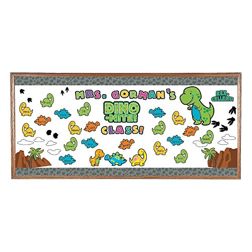 - Fun Express - Dinosaur Bulletin Board Set - Educational - Classroom Decorations - Bulletin Board Decor - 19 Pieces