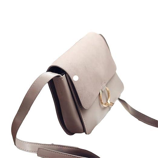 Handtaschen Arbeiten Kettenring Kleines Quadratisches Paket Diagonal Umhängetasche,Black-OneSize GKKXUE