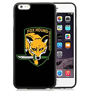 Unique and Fashionable Iphone 6 Plus Case Design with Fox Hound Black TPU case for iphone 6 Plus 5.5 Inch