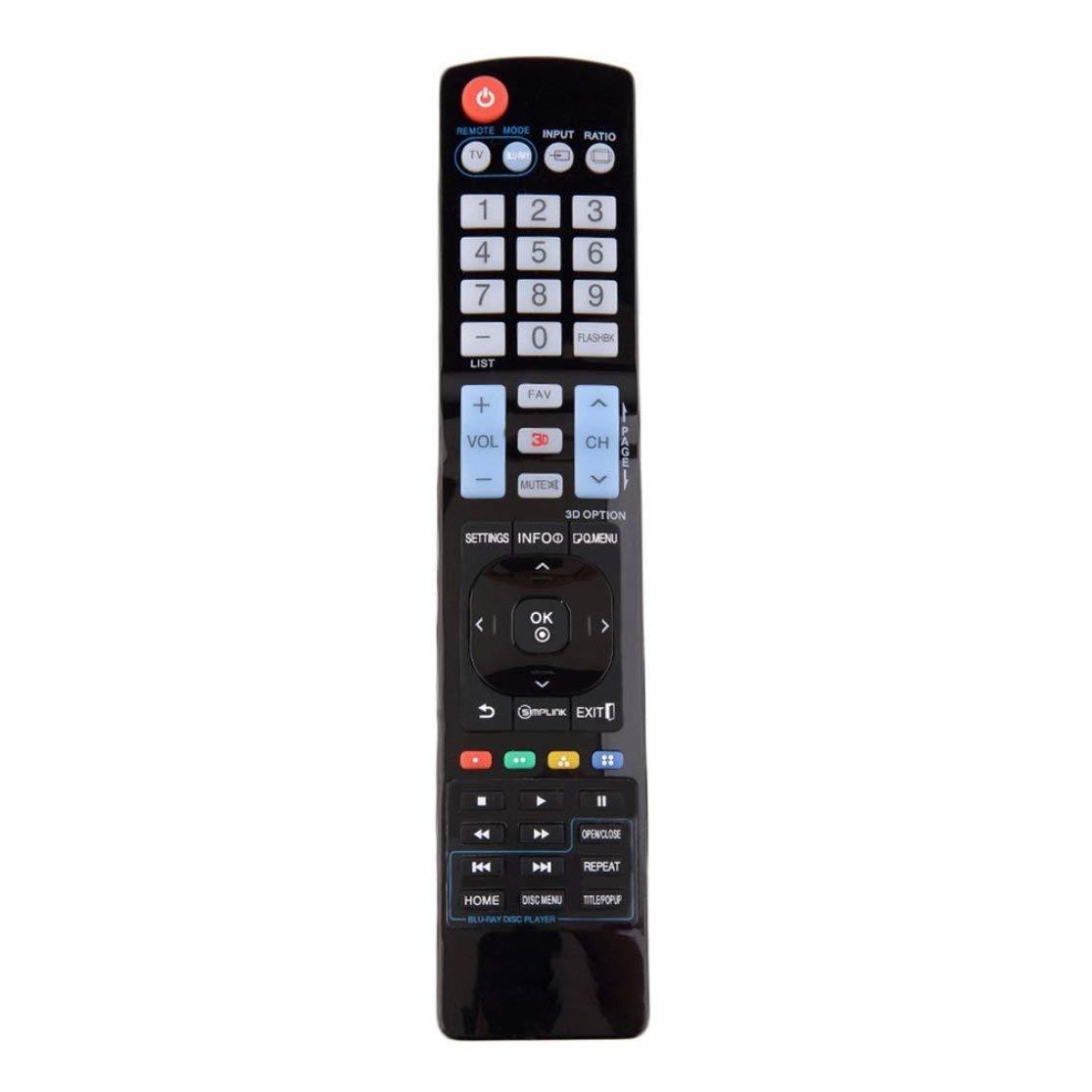 Reemplazo Universal de pl/ástico Negro Control Remoto No se Requiere programaci/ón para LG LCD LED HDTV 3D Smart TV